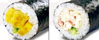 くら寿司の恵方巻2021「たまご巻、えびマヨ巻」