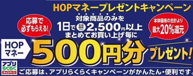 平和堂2500円で500円キャンペーン