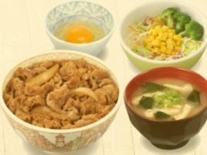すき家「牛丼ランチセット」