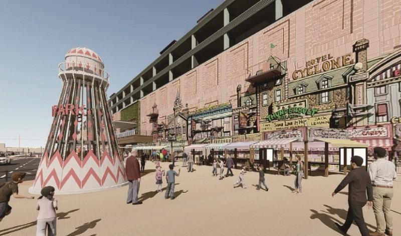 セブンパーク天美「屋外スペース」2021年11月
